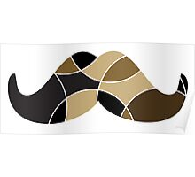 abstract moustache Poster