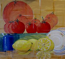 Abstracted Fruit  by Linda Ridpath
