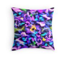 Neon Abstract Throw Pillow