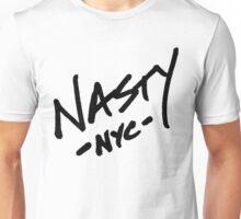 ONE WORD: Nasty - Oversized Black Thick Script Tee Unisex T-Shirt
