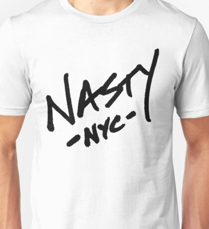 ONE WORD: Nasty - Oversized Black Thick Script Tee Unisex T-Shirt