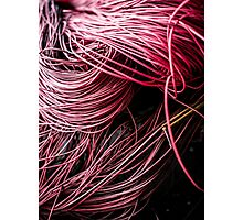 Red Yarn Photographic Print