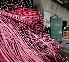Red Yarn on Machine by ishootiso640