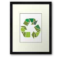 Abstract recycle design Framed Print