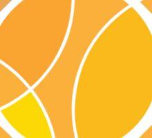 Abstract yellow sun Sticker