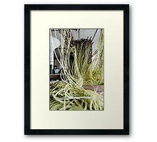 Green Yarn Framed Print