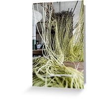 Green Yarn Greeting Card