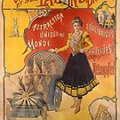 Poster advertising the show &#x27;Miss Olwing and her Rabbits&#x27; (color litho) by Bridgeman Art Library