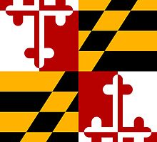 Smartphone Case - State Flag of Maryland  - Vertical by Mark Podger