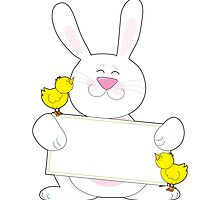 Bunny Sign by Maria Bell
