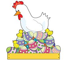 Chicken Easter Eggs by Maria Bell