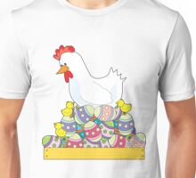 Chicken Easter Eggs Unisex T-Shirt