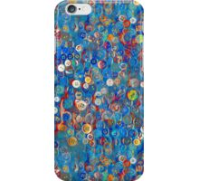 Buttons in Blue iPhone Case/Skin