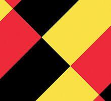 Smartphone Case - Flag of Belgium  - Patchwork Diagonal by Mark Podger