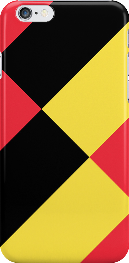 Smartphone Case - Flag of Belgium  - Patchwork Diagonal by Mark Podger