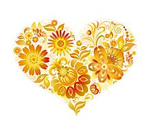 Flowery Heart Photographic Print