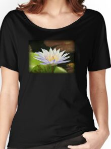Lovely White Water Lily Women's Relaxed Fit T-Shirt
