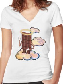 May Chocolate god bless you! Women's Fitted V-Neck T-Shirt