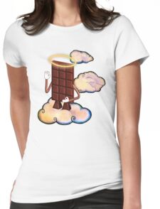 May Chocolate god bless you! Womens Fitted T-Shirt