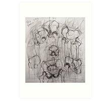 Study of Pelvis Art Print