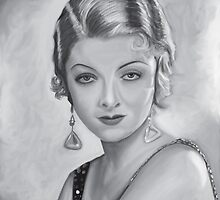 Myrna Loy B&W by Richard Eijkenbroek
