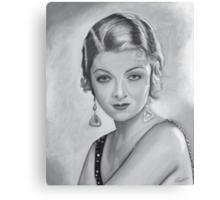 Myrna Loy B&W Canvas Print