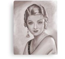 Myrna Loy Sepia Canvas Print