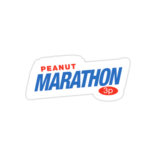 Retro Marathon (not Snickers, kids) chocolate bar logo: only 3p by unloveablesteve