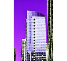 Skyscraper Purple Photographic Print