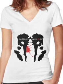 What do you see? Women's Fitted V-Neck T-Shirt