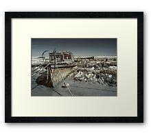 Stranded On The Marsh Framed Print