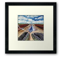 Autumn Samphire at Holkham Beach Framed Print