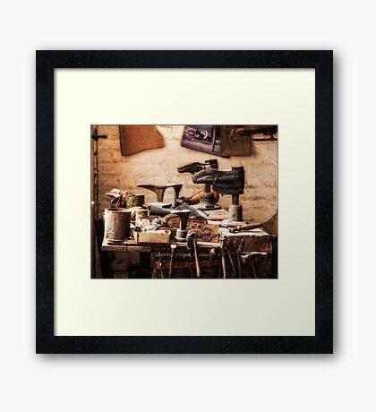 The Shoe Makers Shop Framed Print