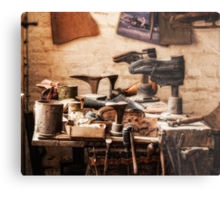 The Shoe Makers Shop Metal Print