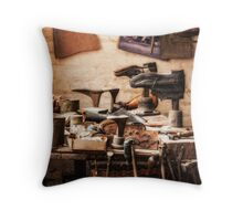 The Shoe Makers Shop Throw Pillow