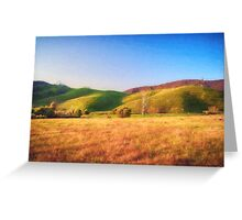 Sunset Field       (VG) Greeting Card