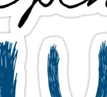The pen is blue 1 Sticker