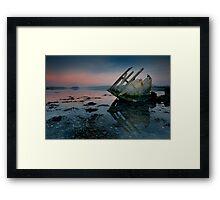Stern Sunset Framed Print