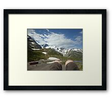 Mountainous Dew - First Person Framed Print