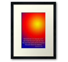 light from darkness Framed Print