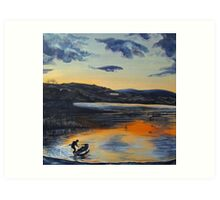 Sunset on Windermere Art Print