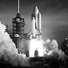 Shuttle Launch by schiggityschway
