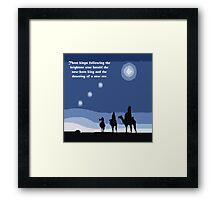 Winter solstice astrology Framed Print