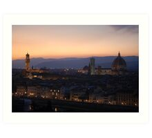 Looking over Florence Art Print