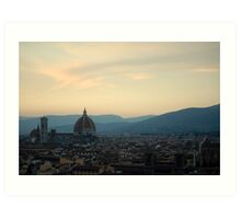 Florence afternoon Art Print