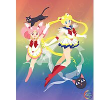 Super Sailor Moon and ChibiMoon Photographic Print