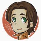 Circle Sam sticker by hellredsky