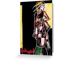 Abstract Dancers Greeting Card