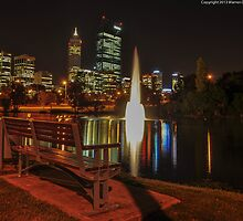 looking over to the city  by warren dacey