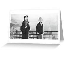 Sherlock + Paperman, Part 1 Greeting Card